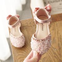 女童鞋公主鞋2020春夏季新款女�����n版包�^�和�半�鲂�小女孩水晶