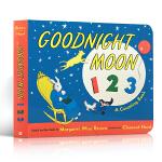 顺丰发货 Goodnight moon 123 纸板书 幼儿启蒙认知读物英文原版 亲子睡前读物 Margaret Wi