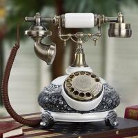 仿古电话机家居装饰摆件别墅客厅金属摆件