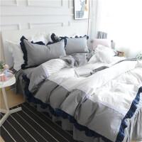 床上三件套1.5/1.8m床被套罩三件套床单床裙少女心公主风