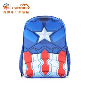 CAMKIDS 小学生书包男生1-3-5年级6-12周岁漫威儿童双肩包