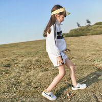女童套装夏装时尚运动儿童装大童夏季女孩防晒衣