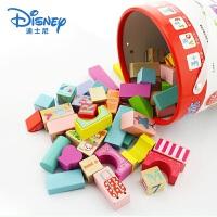 儿童宝宝桶装积木男女孩木制拼搭益智玩具