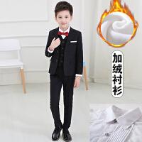 男童西服小孩钢琴演出三件套加绒儿童小西装套装花童韩版男孩礼服
