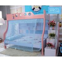 蚊帐1.5米下铺1.2米上下床铺 双层床学生儿童 魔术贴书架款