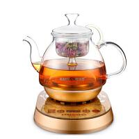 金灶(KAMJOVE) 全自动煮茶器 黑茶玻璃壶 蒸汽煮茶壶电热茶壶A-55 金黄色