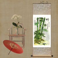 绿竹画国画花鸟画客厅装饰画竹子挂画玄关风水画礼品竹子壁画