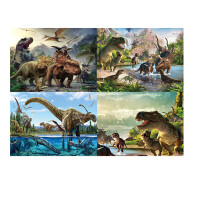 1000片木质拼图500儿童恐龙卡通动物早教玩具小朋友生日礼物