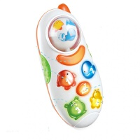 儿童早教旋转地球玩具手机音乐仿真电话机婴儿0-1-3岁宝宝男孩女孩玩具礼物 旋转球手机故事机