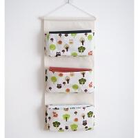 墙挂式衣柜 布艺棉麻墙上门后储物整理袋大挂式收纳袋 收纳挂袋 大号