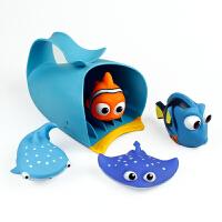 儿童洗澡玩具戏水车男孩女孩小黄鸭洗头杯花洒宝宝洒水壶套装沙滩