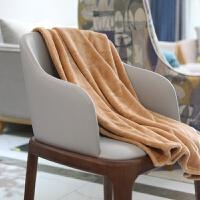 毛毯珊瑚绒毯子小夏季单人毛巾薄被子办公室午休空调法兰绒午睡毯 驼色 法兰绒