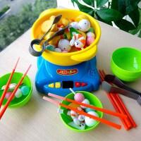 六一儿童火锅仿真厨房益智早教练习筷男孩女孩过家家夹夹乐儿童玩具礼物