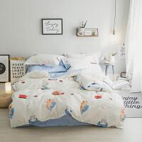 可以猫咪床单套件 棉4件套 3件套 1.5双人床 白 2.0m(6.6英尺)床 4件套