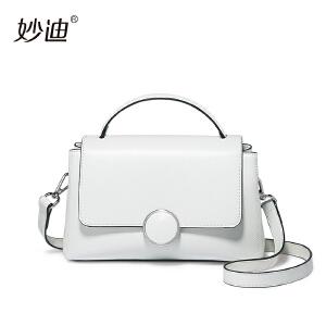 手提包女韩版2017新款个性时尚圆环斜挎包夏天小包包白色单肩包潮