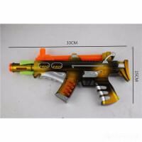 儿童电动声光枪带震动灯光音乐玩具枪地摊货源电动玩具枪颜色随机发