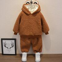 童装男童冬装套装儿童加绒秋冬宝宝洋气小童两件套潮