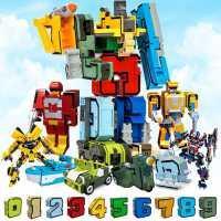 数字变形玩具金刚礼物益智机器人男孩全套儿童3-4字母6岁百变战队