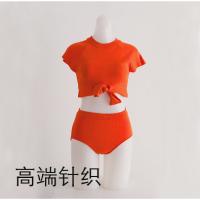 游泳衣女新款显瘦韩版遮肚分体性感高腰韩国三角裤性感比基尼泳衣
