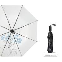 防晒太阳伞女防紫外线遮阳伞折叠晴雨两用简约黑胶小清新学生雨伞