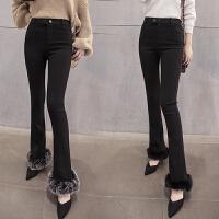 加绒加厚黑色高腰打底裤外穿秋冬季大码紧身显瘦小脚铅笔裤女长裤