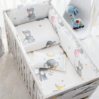 定做婴儿BB床围宝宝床上用品卡通儿童床品四件套纯棉含床单床帏