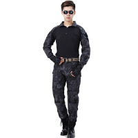 20180323032841280AOTU 蟒纹迷彩青蛙服套装运动户外真人修身战术作训服军迷装备军装