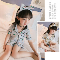 儿童睡衣女童夏装童装女宝宝短袖夏季家居服套装薄款