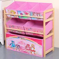 实木玩具收纳架储物架整理架幼儿园宝卡通收纳盒玩具架玩具柜