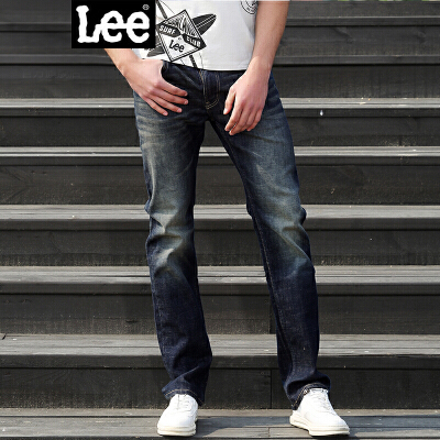 Lee男装 2017秋冬新品中腰直脚男士 休闲牛仔裤 LML724Z025DA