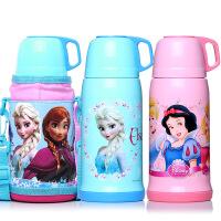 迪士尼儿童保温杯不锈钢真空水杯米奇卡通学生水壶送杯套480ml
