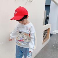 男童卫衣2儿童中小童时尚宽松卡通宝宝长袖
