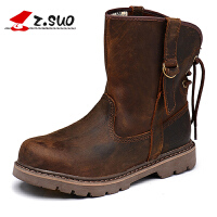 走索女鞋新款秋冬季靴子女英伦皮靴马丁靴女军靴情侣靴子潮流短靴