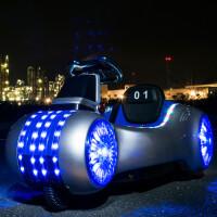 儿童电动车三轮太空车婴儿玩具汽车可坐人四轮遥控宝宝摇摆摩托车