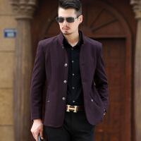 男士外套冬季羊毛呢子大衣新款中年短款加绒加厚冬装爸爸装