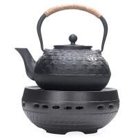 唐丰仿日本煮茶壶套装电陶炉铁壶铸铁煮茶器半手工泡茶煮水壶