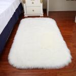 白色长毛绒地毯仿羊毛地毯客厅卧室床边地毯地垫满铺橱窗装饰拍照