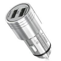 台电(Teclast)CCM202 车载充电器 金属车充 双USB 智能手机充电器  金属精钢外壳,双口智能速充,一年换新!