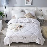 棉花被芯 新疆棉花被子天然里外全棉加厚冬被单双人春秋被褥 白色 小棉朵