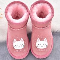 女童雪地靴儿童靴子冬季童鞋短筒靴保暖棉靴