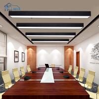 祺家led办公室公吊灯 现代简约led吸顶灯 吸吊两用长方形led灯具工作室餐厅可用送吊绳