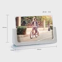 工业风清水泥相框摆6六7寸亚克力照片像框儿童实木相架情侣礼物 水泥相框(横板)