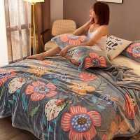 新款珊瑚法兰绒毛毯毛巾被子办公室夏季薄款床单人小盖毯午睡毯子