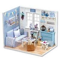 女童公主房玩具礼物7-12岁儿童过家家手工制作 娃娃屋模型