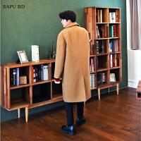 羊绒大衣男长款过膝韩版宽松毛呢大衣男外套加厚保暖秋冬新品