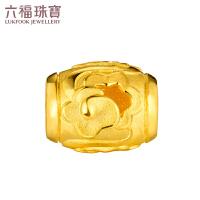 六福珠宝祥云黄金转运珠路路通DIY串珠手绳计价GDGTBP0013