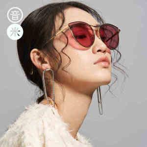 音米新款墨镜女潮 2018韩国  个性太阳镜女 圆脸 炫彩墨镜女
