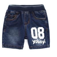 儿童牛仔短裤夏季 男童中裤女童五分裤 宝宝夏装童装裤子