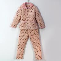 冬季保暖新款棉袄女士睡衣套装三层加厚夹棉家居服