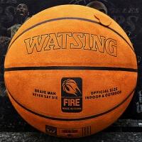翻毛加厚纯篮球耐磨室内室外水泥地比赛球 黄棕色 七号篮球(标准球)